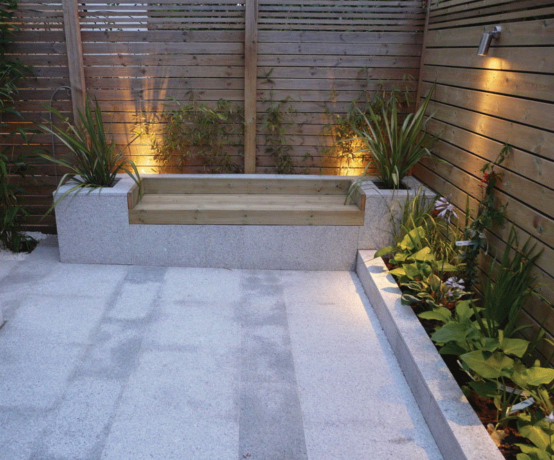Image of Granite planter bench