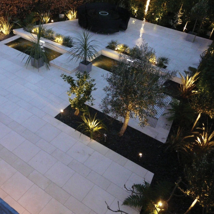 Image of Garden design by night