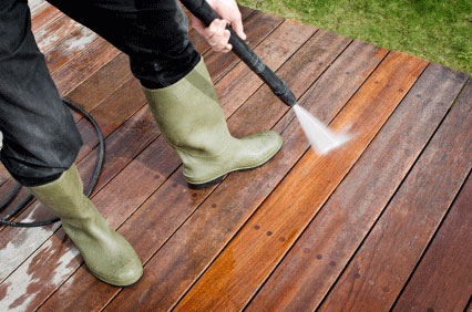 Image of Decking jet wash services