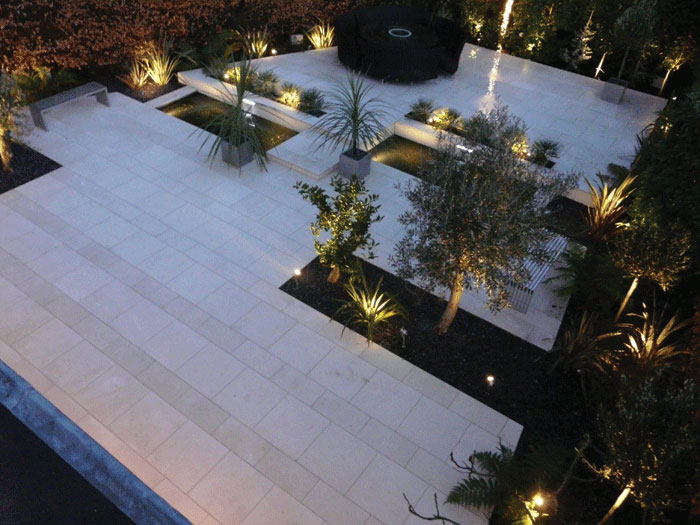 Image of White limestone paving