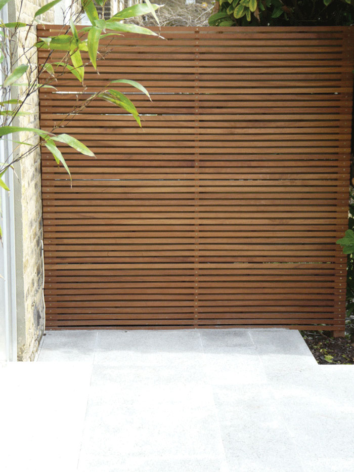 Image of Bespoke Iroko fence panel