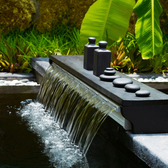 Asian style garden fountain